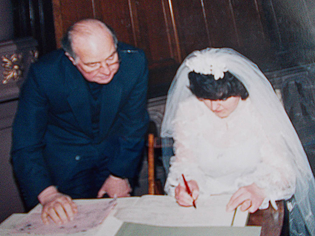 Wedding register - Val Pate